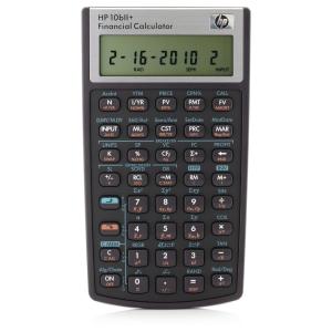 Finansregner HP 10BII+, sort, 10 cifre