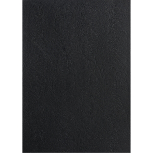 Spiralomslag Pavo læderpræget A4 sort æske a 100 stk