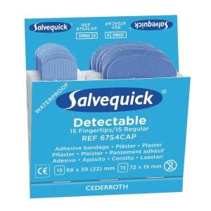 Plaster sporbart Orkla Care Salvequick 6754cap blå, æske a 6 sæt