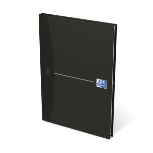 Notesbog Oxford Smart Black, A5, linjeret, sort, 96 ark, 90 g