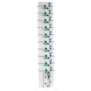 Brochureholder Twinco vægmodel, 10 fag, A4