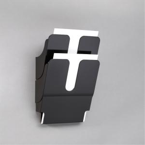 Skråfag Durable Flexiplus, 2 bakker, A4, stående, sort