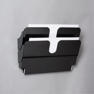 Skråfag Durable Flexiplus, 2 bakker, A4, liggende, sort