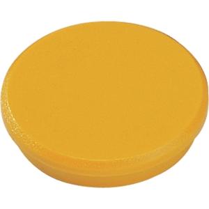 Magnet Dahle, rund, 32 mm, gul, pakke a 10 stk.