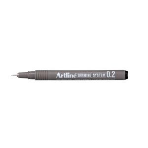 Fineliner Artline Drawing Pen EK232, 0,2 mm, sort