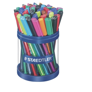 Kuglepen Staedtler, medium, assorterede farver, pakke a 50 stk.