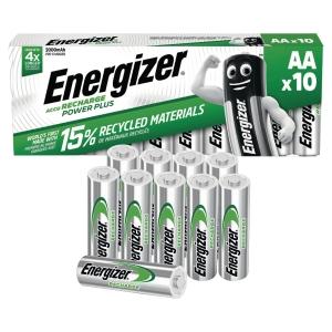 BATTERIER  GENOPLADELIGT ENERGIZER AA 2000MAH PAKKE A 10 STK