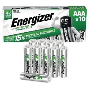 BATTERIER GENOPLADELIGT ENERGIZER AAA 700MAH PK. A 10 STK