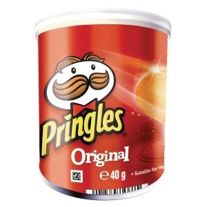 Chips Pringles 40 g Original æske a 12 dåser