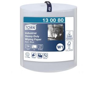 Aftørringsklud Tork W1 Industri ektra kraftig blå