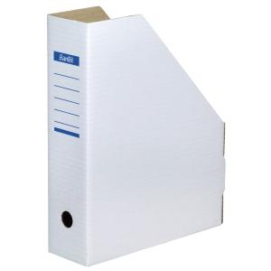 Tidsskriftskassette Bantex karton hvid