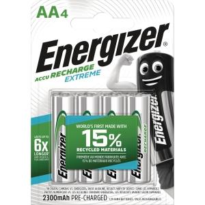 BATTERIER ENERGIZER EXTREME RECH HR6 PAKKE A 4 STK