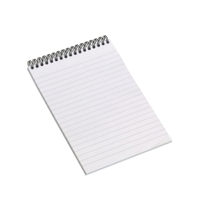Notesblok Bantex Wire-O, A5, linjeret, 80 ark, 70 g