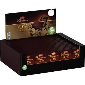 Chokolade Marabou 70 %, 10 g, pakke a 120 stk.