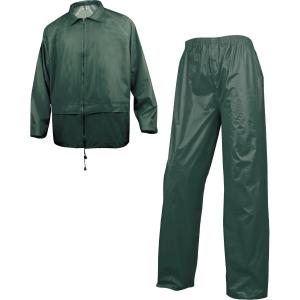 Regntøj Deltaplus, arbejdsjakke og buks, grøn, str. XXL