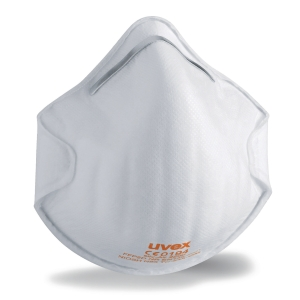 UVEX FFP2 CUP STYLE RESPIRATOR MASKS - BOX OF 20