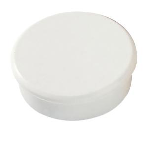 Magnet Dahle, rund, 32 mm, hvid, pakke a 10 stk.
