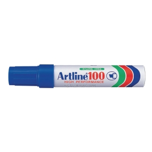 Permanent marker Artline 100, skrå, blå
