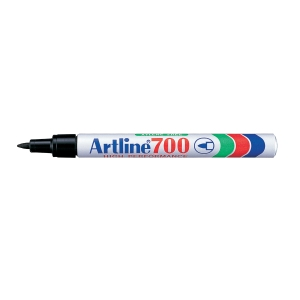 MARKER ARTLINE 700 PERMANENT 0,7 MM SORT