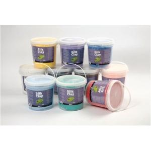 Silk Clay basic, 650 g, pakke med 10 farver