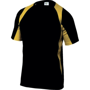 T-shirt Deltaplus Bali, sort/gul, str. XXL