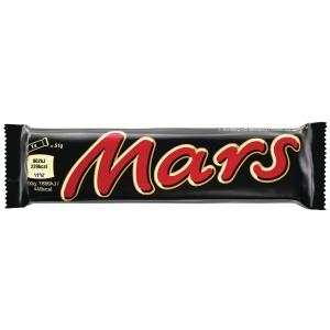 Chokoladebar Mars, 51 g, æske a 32 stk.