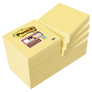 Post-it Super Sticky Notes, 51 x 51 mm, gul, pakke a 12 blokke