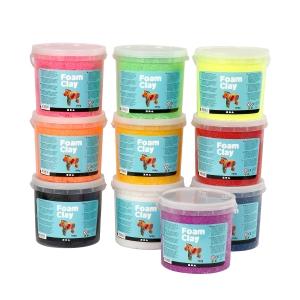 Foam Clay 560 g pakke a 10 farver