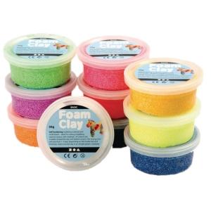 Foam Clay 35 g, pakke a 10 farver