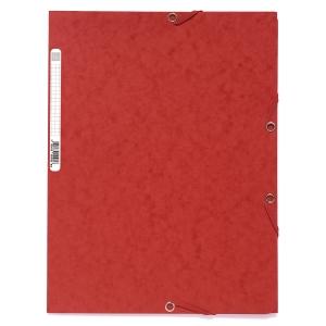 Elastikmappe Exacompta, A4, rød