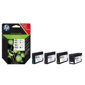 Blækpatron HP 950XL C2P43AE 2.300 + 3 x 1.500 sider c/m/y/k pakke a 4. stk