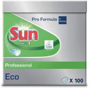 Opvasketabs Sun Eco Pro All In 1 æske a 100 stk