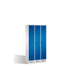 EVOLO LOCKER BASE 3 ROOMS 900MM BLU/GRY