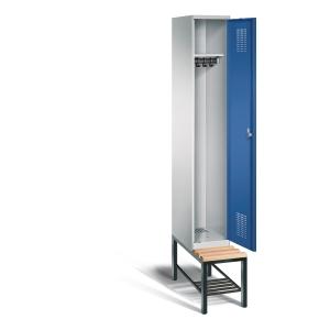 EVOLO LOCKER BENCH 1 ROOM 300MM BLU/GRY