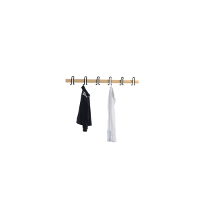 BASIC WALLMOUNT HOOK RAIL 6HO 1496X68MM