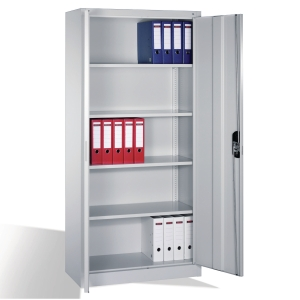 900 CUPBOARD 4 SHELF 1950X930X400MM GRY