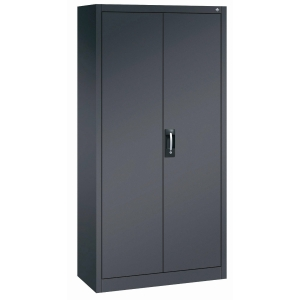 900 CUPBO 4 SHELF 1950X930X400MM BLK/GRY