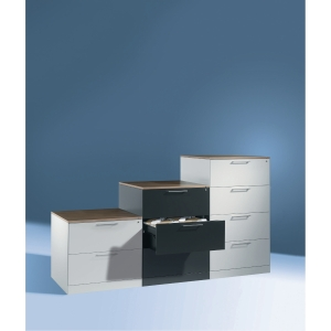 Arkivskab CP Asisto 4 skuffer 129,8 x 80 x 60 cm gråsort