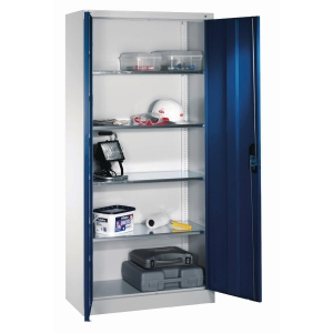 TOOL CABINET 4 SHELF 1950X930X400MM BLU