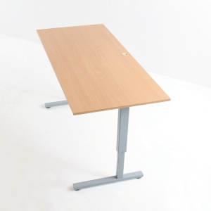 CONSET TABLE BEECH 160X80CM GREY