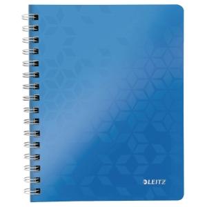 Notesbog Leitz WOW, A5, linjeret, blå