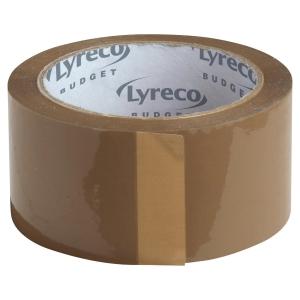 PAKKETAPE LYRECO BUDGET 50X66 BRUN PAKKE A 6 RULLER