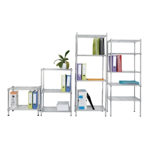 ALBA CHROME STEEL SHELVING 4 SHELV LARGE