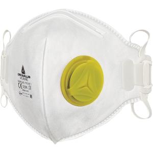 Støvmaske med ventil Deltaplus M1200VB FFP2 pakke a 10 stk