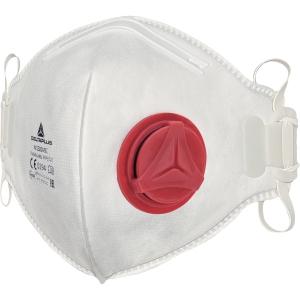 Støvmaske m/ventil Deltaplus M1300VB FFP3 pakke a 10 stk
