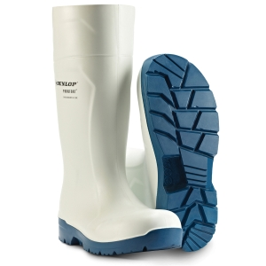 Sikkerhedsstøvle i PU Dunlop Foodpro Multigrip S4 hvid str. 42