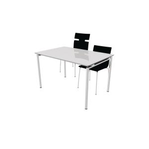 Kantinebord Zign med stolelift 120x80 cm hvid