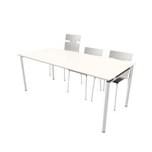 Kantinebord Zign med stolelift 180x80 cm hvid