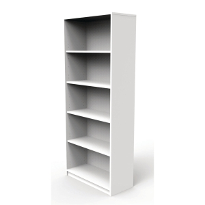 JIVE BOOKCASE 5 R 1857X780X350MM WHITE