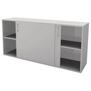 Skab med skydedøre Jive 4 rum 80x160x42cm hvid